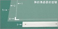 材料的放置 無的傳感器的型號